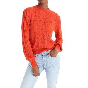 XXS DEMYLEE X J CREW Pointelle Orange Sweater
